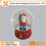 Globo de neve personalizado de resina e Esfera de água com o Natal Santa Claus