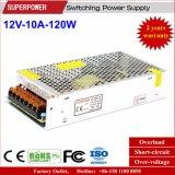 alimentazione elettrica di commutazione di video di obbligazione di 12V 10A 120W