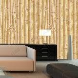 Behang van pvc van het Ontwerp van het Bamboe van de Lage Prijs van de Fabriek van Guangzhou 3D voor Badkamers