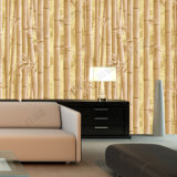Guangzhou Factory Low Price 3D Bamboo Design PVC Wallpaper para o banheiro