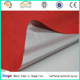 Tessuto rivestito d'argento 100% del taffettà 210t del poliestere per i coperchi dell'automobile dell'indumento della tenda
