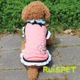 L'estate del cane della maglietta delle ragazze del merletto del cotone copre l'abito dell'animale domestico