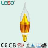 5W 90RA E14/B15 Bougie modulable par LED de forme de flamme L'ampoule (LS-B305-SB-A-CWWD/DLG)