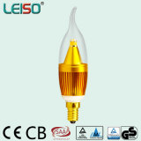 5W 90ra E14/B15 Forma llama Velas LED regulable Bombilla (LS-B305-SB-A-CWWD/CWD)
