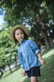 Camisas 100% das meninas do algodão para a mola/outono