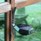 屋外の太陽電池パネルLEDの庭の壁のセンサーによって取付けられるライト