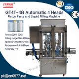 Het automatische Deeg van de Zuiger van 4 Hoofden en Vloeibare het Vullen Machine voor Sap (GT4T-4G)