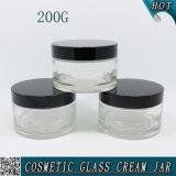 200ml löschen leeres kosmetisches Glasbehälter-Glas 200g