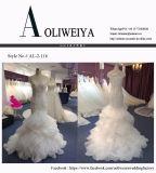 Платье венчания Mermaid шикарной шеи иллюзиона высокого качества реальное