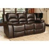 Divany con el sofá del cuero genuino de la sala de estar del vector