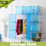 Faltbare Speicherschrank-Schlafzimmer-Großhandelsmöbel-Plastikgarderobe mit Schuh-Schränken