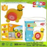 Boîte de couleur de haute qualité Pakcing bébé canard tirez en bois jouet éducatif jouet pour la promotion