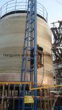 Máquina de enrolamento vertical do filamento da fatura do tanque ou da embarcação de GRP
