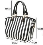 Shouler Bag (WDL0223) 고전적인 백색과 까만 결박 PU Shiling OEM/ODM 숙녀