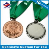 Médaille en cuivre antique Médaille en relief en gros avec ruban
