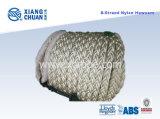 Corda de amarração de nylon de 8 cadeias aprovada pela BV