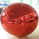 Sfera gonfiabile dello specchio di colore rosso di nuovo disegno 2m per la pubblicità esterna
