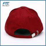 Baumwollstickerei-Baseballmütze-Metallfaltenbildung-Rückseiten-Baseballmütze