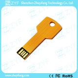 Azionamento chiave di alluminio del USB di figura del metallo dell'oro con il marchio su ordinazione (ZYF1727)