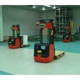 Uso do robô do Forklift do laser para o armazém grande