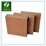 Decking plástico de madera al aire libre del compuesto WPC de la sección sólida de la coextrusión