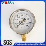 Ssの箱の黄銅のコネクターが付いている100mm/4インチ1.6MPaの正確さ1.0%の衝撃の証拠の圧力計