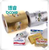 La mantequilla de grado alimenticio envasado 8 colores, la impresión de papel de aluminio