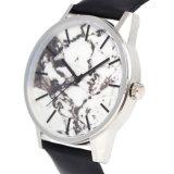 Het speciale het Ontwerpen Horloge van de Manier van het Roestvrij staal met Marmeren Wijzerplaat Bg362