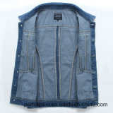 Куртка джинсовой ткани тонкого пальто 2016 корейских людей одежд способа безрукавный