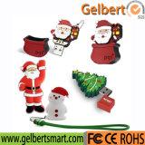 Disco popular del USB del PVC del regalo popular de la Navidad