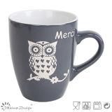 tazza di ceramica 12oz con il disegno del gufo