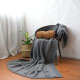 뜨개질을 한 호화스러운 Softextile 100% 아크릴 Minky 점 양털은 도매로 덮는다