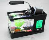 Aquário Desktop do tanque de peixes do USB mini com a bomba de água do pulso de disparo do diodo emissor de luz