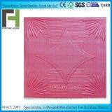 Couleur rouge de style en vogue panneau de plafond en mousse de polystyrène