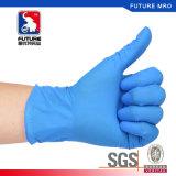 Устранимыми концы перста нитрила порошка свободно текстурированные перчатками для медицинский проверять