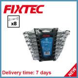 Комплект гаечного ключа открытого конца стали углерода 8PCS ручных резцов Fixtec двойной