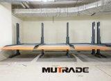 Doppio sistema semplice di parcheggio dell'elevatore idraulico dell'alberino dell'impilatore 2 dell'automobile di Mutrade