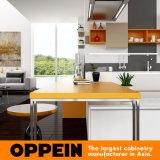 Gabinetes de cozinha de madeira modernos da grão do PVC do projeto novo de Oppein (OP16-PVC03)