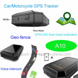 Véhicule/voiture/moto Tracker GPS avec GPS/Lbs Mode double emplacement A10
