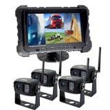 2,4 цифровой беспроводной системы камеры заднего вида для автомобилей для тяжелого режима работы с цифровым видеорегистратором Quad 7 дюймовый монитор и IP69K камера заднего вида