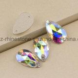 Het Bergkristal die van het kristal AchterBergkristal van Ab het vlak in orde maken voor naait (sW-Daling)