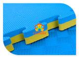 '私達はマットのBlue&Yellow 100X100X30cm Anti-Fatigue連結のエヴァの泡の練習の体操のフロアーリングのマットを販売する