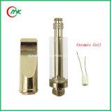Cbdの二酸化炭素のThcオイルのGlodカラー陶磁器のコイルのガラスカートリッジVapeのペンの噴霧器