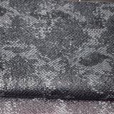 Tissu de estampage chaud de chaussure contrecarré par argent de sac en cuir d'unité centrale de Faux