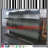 Metallsupermarkt-Gondeln mit Lattenrückplatte