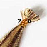 Da ponta européia da vara do cabelo da cor de tom dois cabelo humano desenhado natural