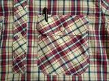 Geweven Overhemden van de Tribune van de Koker van de Plaid van 100%Cotton van mensen de Garen Geverfte Lange Kraag