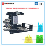 Machine van de Druk van het Letterzetsel van twee Kleur de niet Geweven zxh-C21200