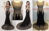 Платье женщин способа вечера венчания партии повелительниц шнурков вышивки роскошное