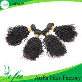 Оптовые сотка волосы выдвижения волос Kinky курчавые для заплетения